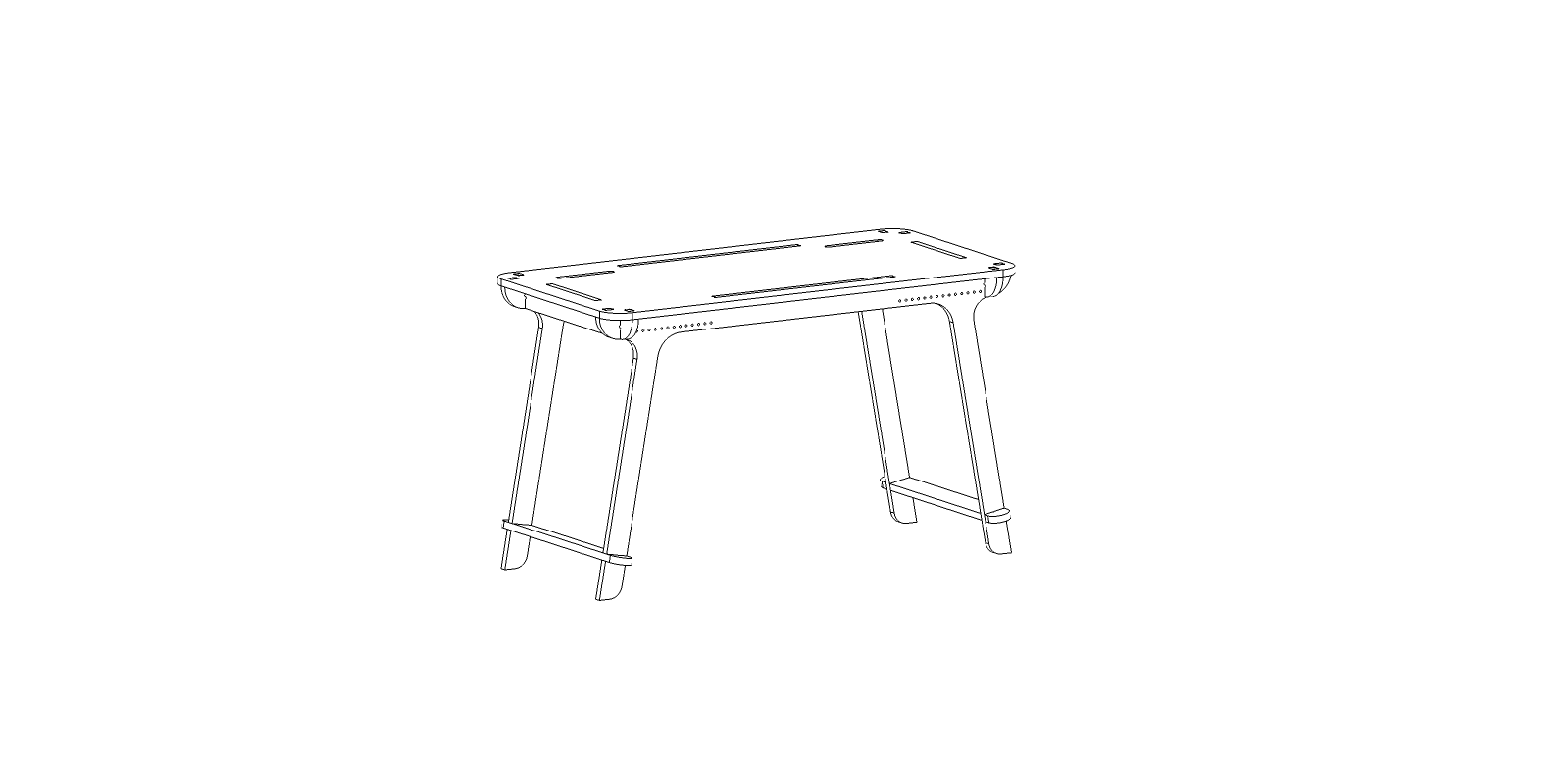 Bureau CNC – Design 02 – 18mm – Elastic Version – Vector_02
