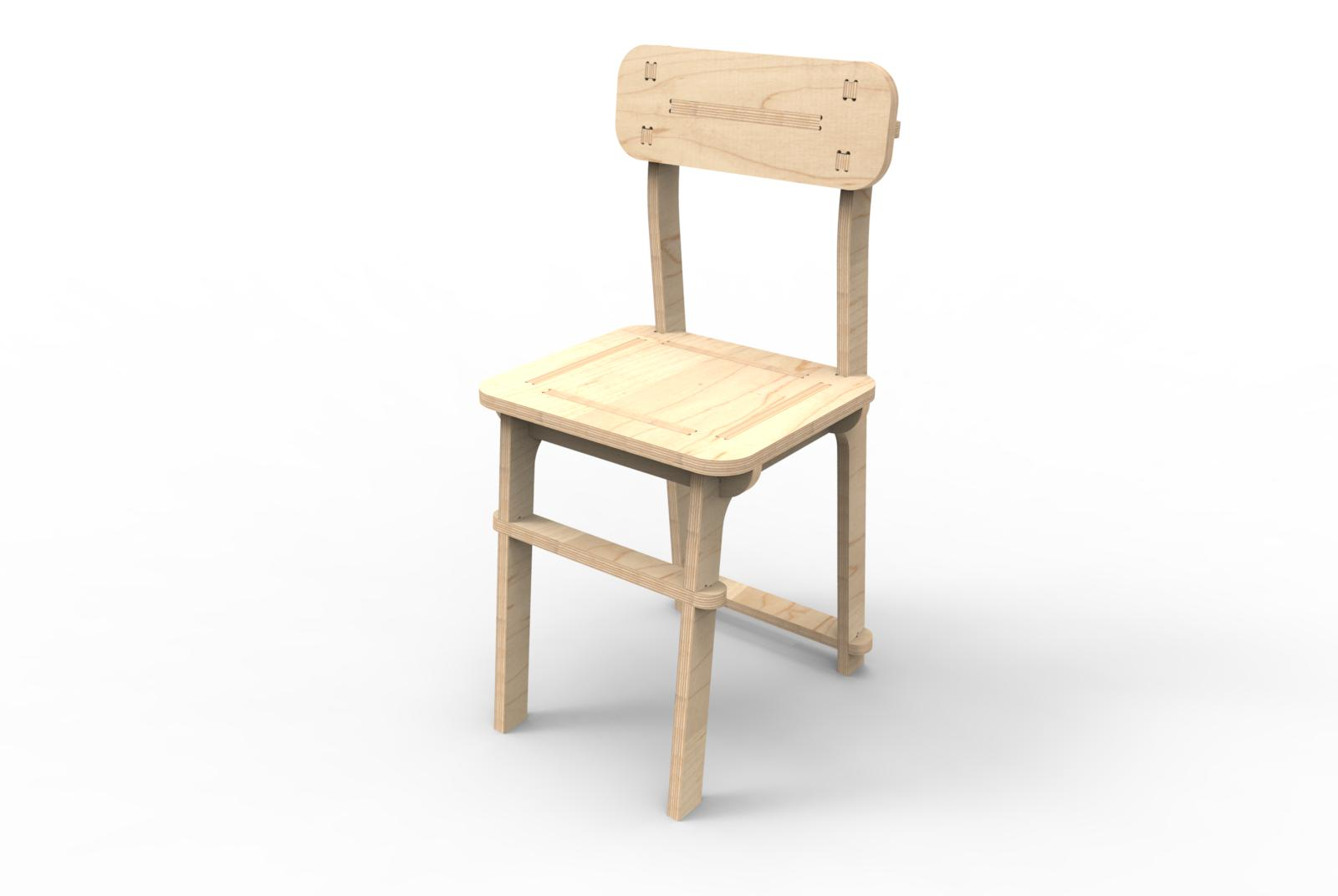 CNC Chair – Version 01 – 08-11-2016 – Perspective