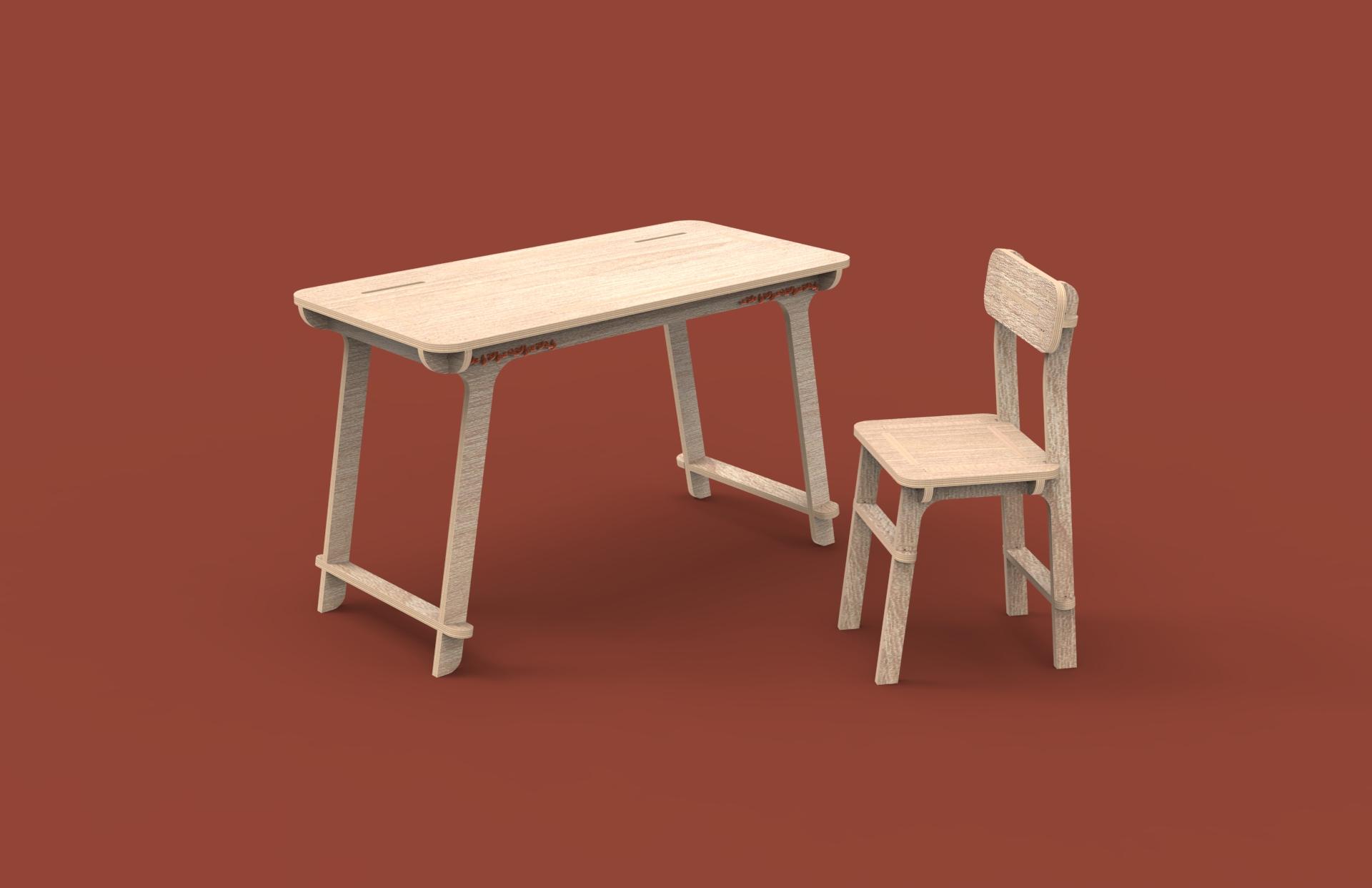 CNC Desk & Chair