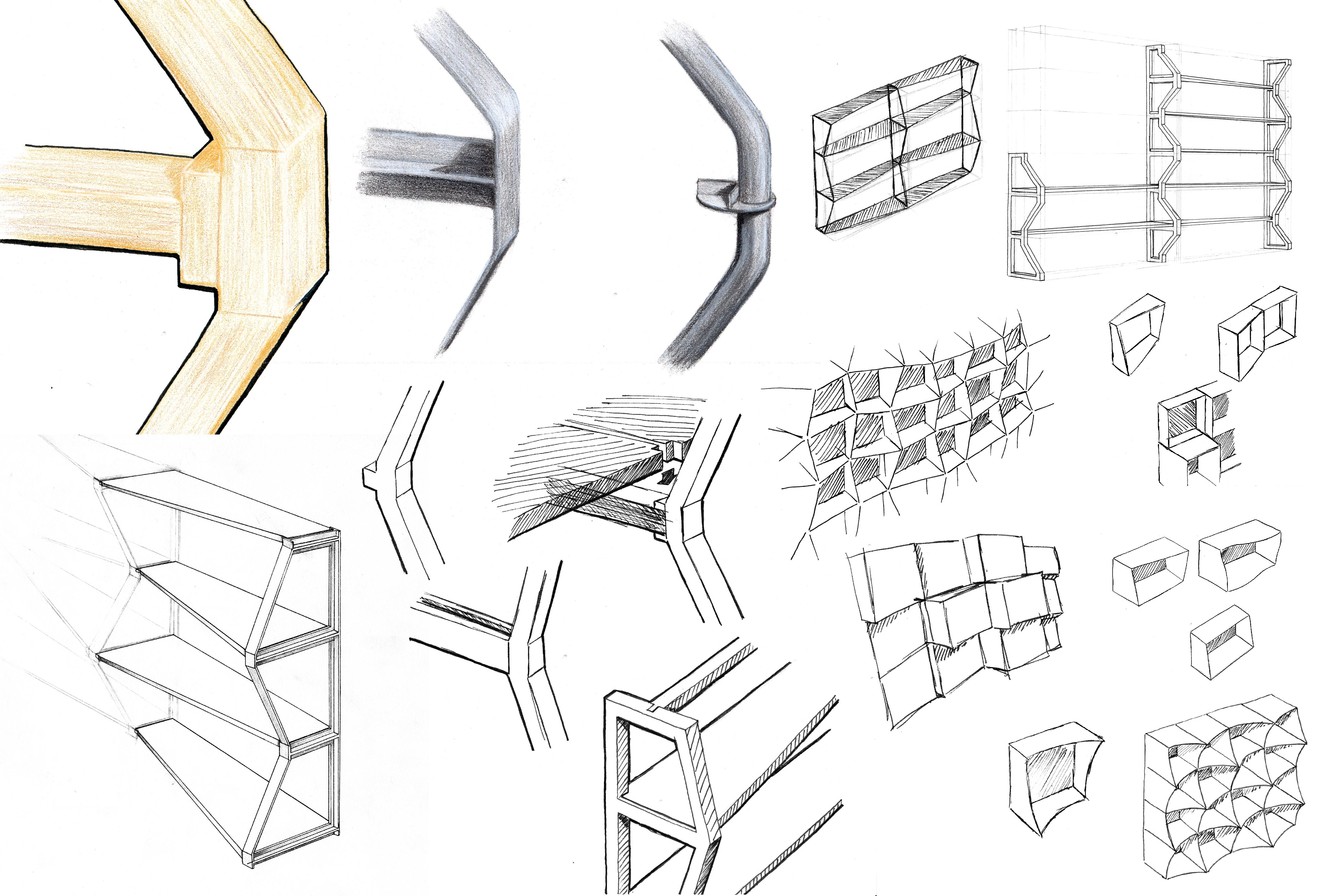 Maillols – Design Mobilier – Rangement modulaire – Dessins – FR