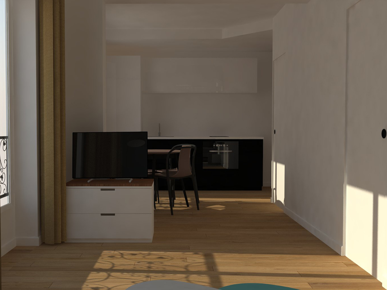Simon Caradec – Appartement Rue du Commerce – 3D_03