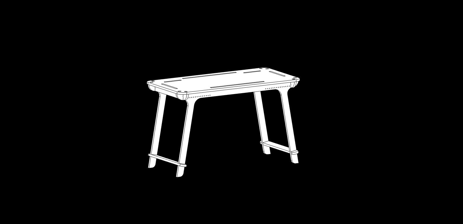 Bureau CNC – Design 02 – 18mm – Elastic Version – Vector_02
