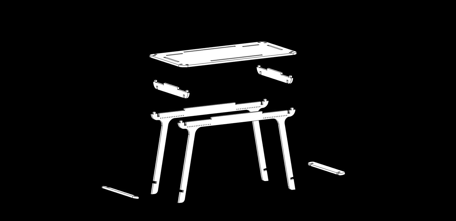 Bureau CNC – Design 02 – 18mm – Elastic Version – Vector_03