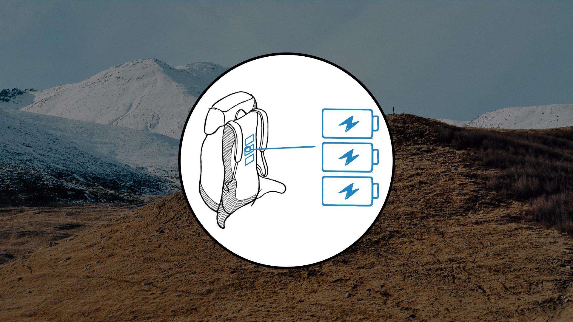 Decathlon Creation – Illustration Sac à Dos Connecté – WEB05 – FR