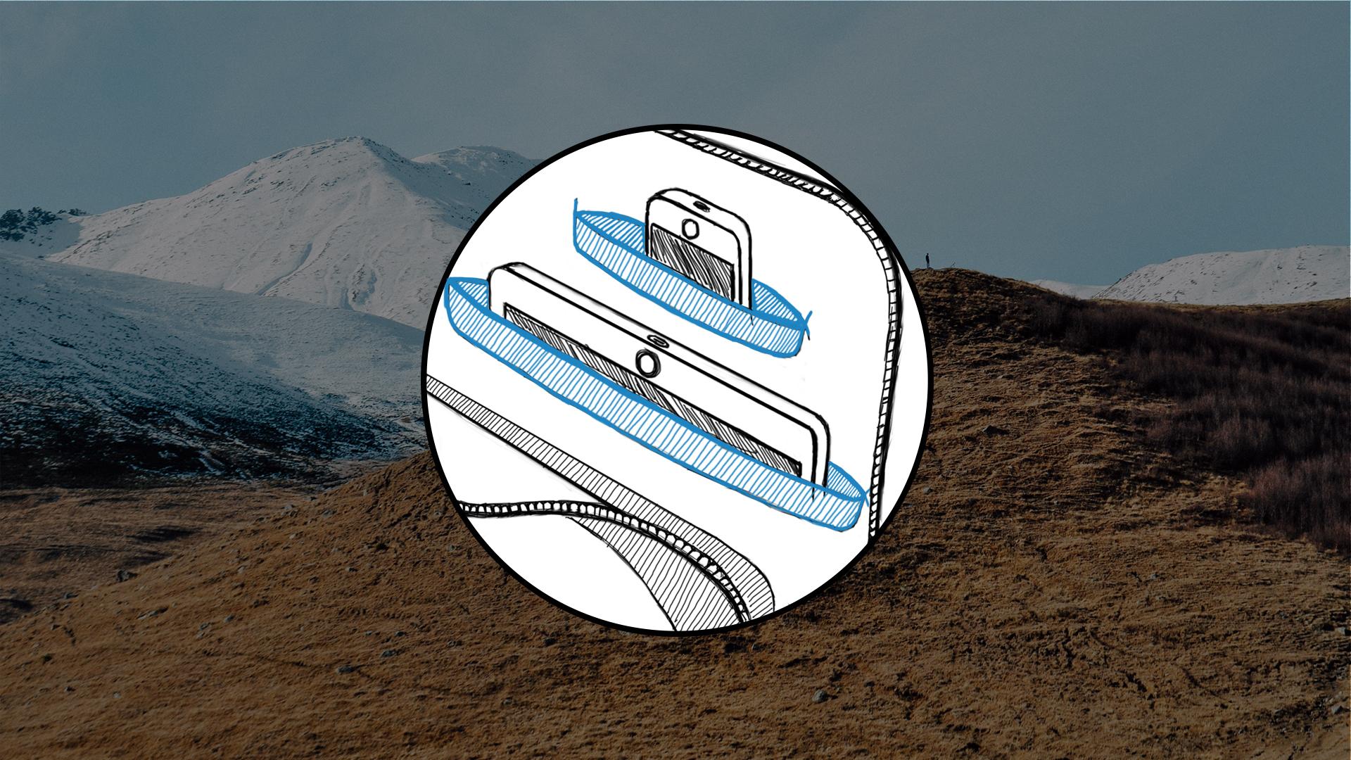 Decathlon Creation – Illustration Sac à Dos Connecté – WEB06 – FR