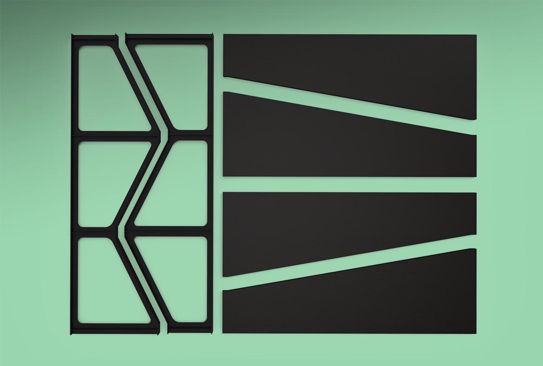 Maillols – Design Mobilier – Rangement modulaire – Modélisation 3D – 02 – FR