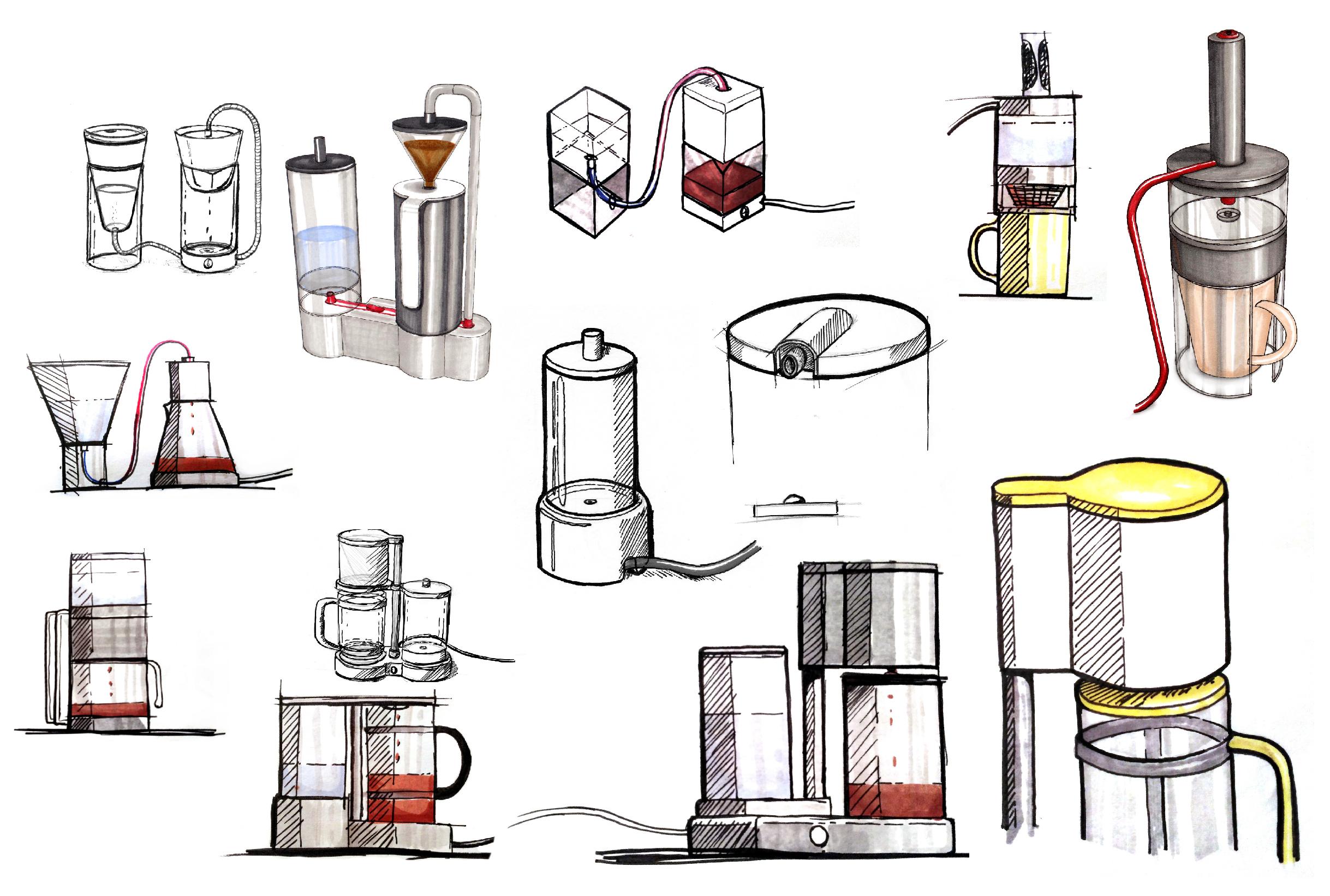 MoCo – Machine à Café réparable – Design Produit – Dessins 02 – FR